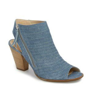 PAUL GREEN Cayanne Peep Toe Sandal Denim Leather